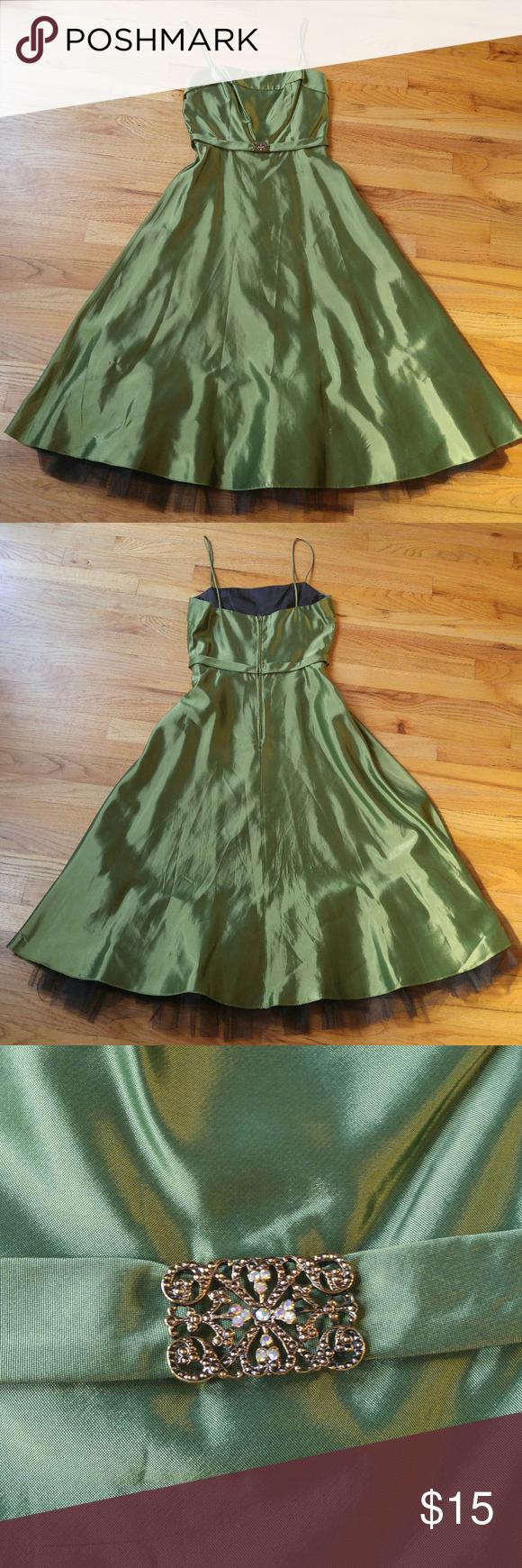 Olive green formal prom dress w sparkle accent my posh picks