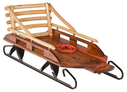 Mountain Boy Sledworks - Handmade Wooden Sleds & Wagons - Silverton, Colorado - Bambino Classico Pull Sled