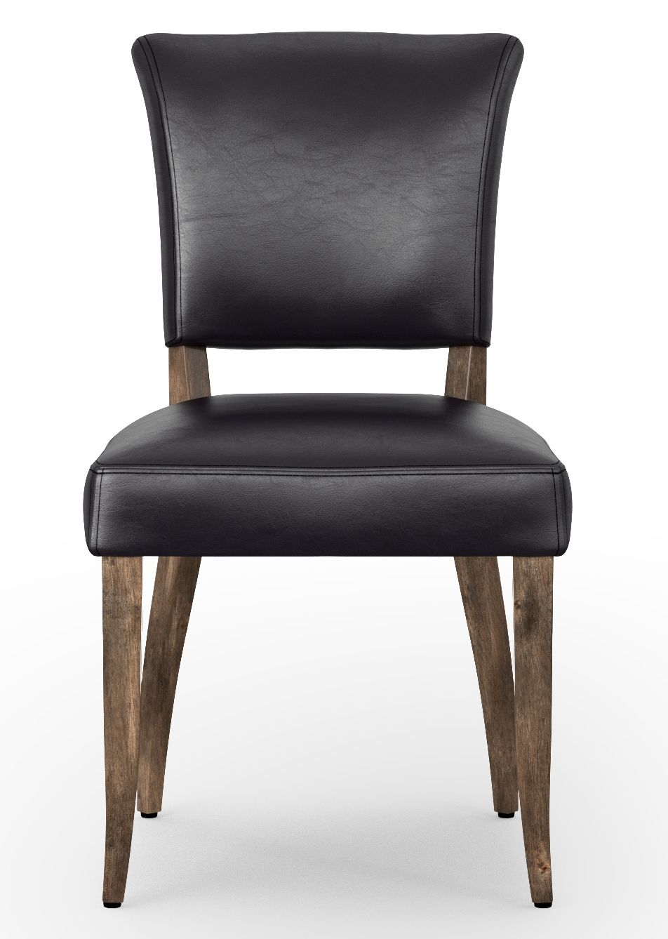 black leather high back dining chairs on four hands carnegie collection black and oak mimi dining chair ccar m3w osb in 2021 dining chairs leather dining room leather dining chairs pinterest