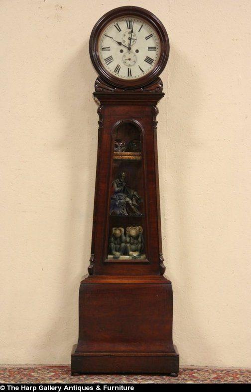 Coatbridge Scotland Tall Case Grandfather 1860 Clock Quartz Movement Clock Antique Wall Clock Grandfather Clock