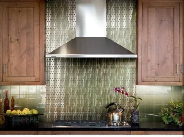 Kitchen Backsplash Green Glass Tile for the ultimate show-stopper in mosaics, consider reflective