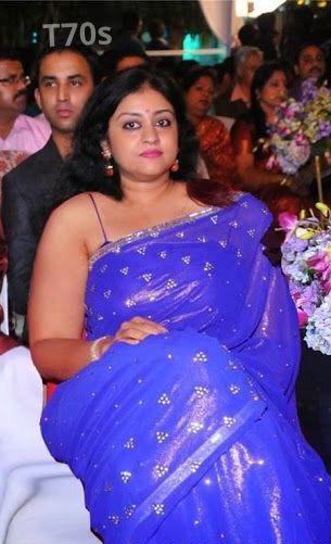 Parvathy Jayaram Hot In Saree  Curvy Actress  Formal -6409