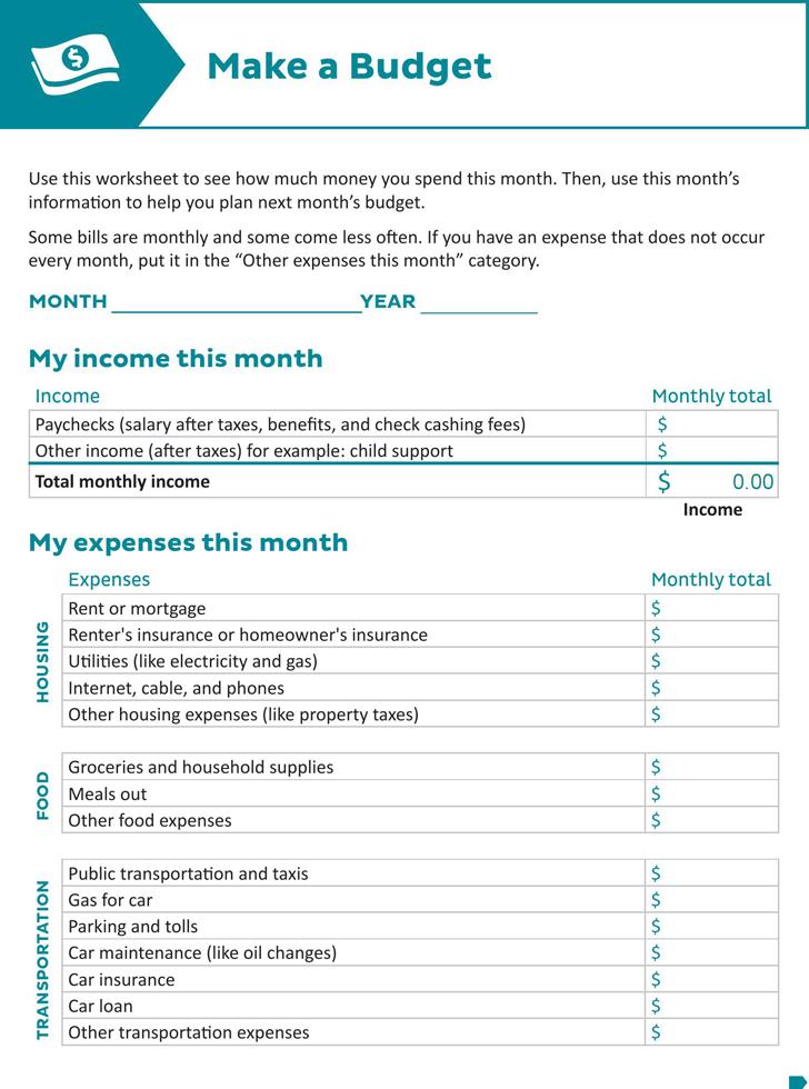 downloadable budget worksheet cheat sheets pinterest budgeting
