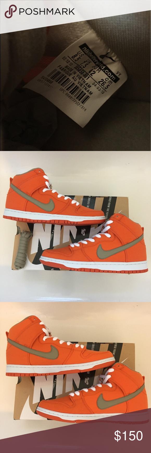 promo code 6384b d415e Nike SB Dunk High Orange/Bamboo 305050-801 RARE Nike SB Dunk High Urban
