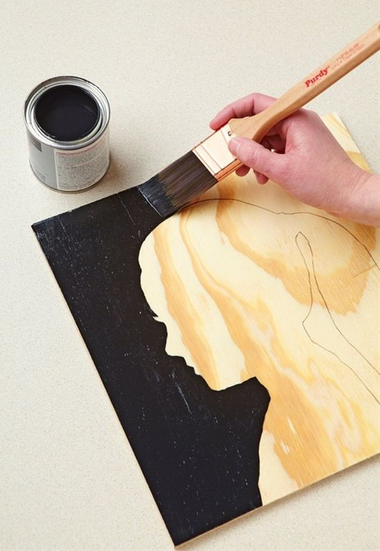 Silhouette Wall Art   Pinterest pin, Wood grain and Silhouettes