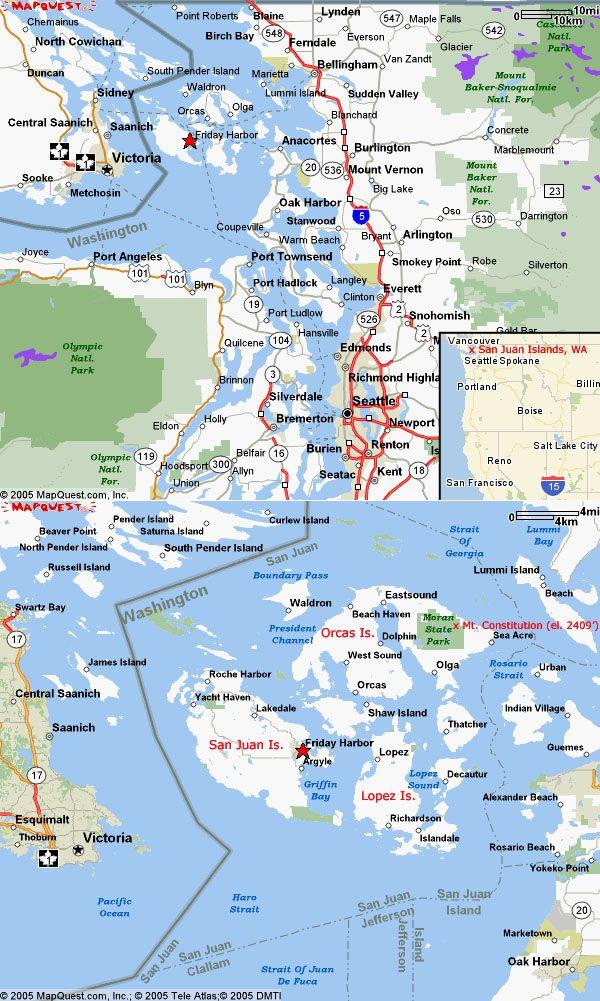 san juan islands map - Google Search | San juan islands ...
