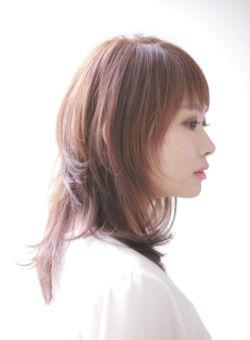 ロング ネオウルフ レイヤードミディ Hair Salon Wingの髪型 ヘア