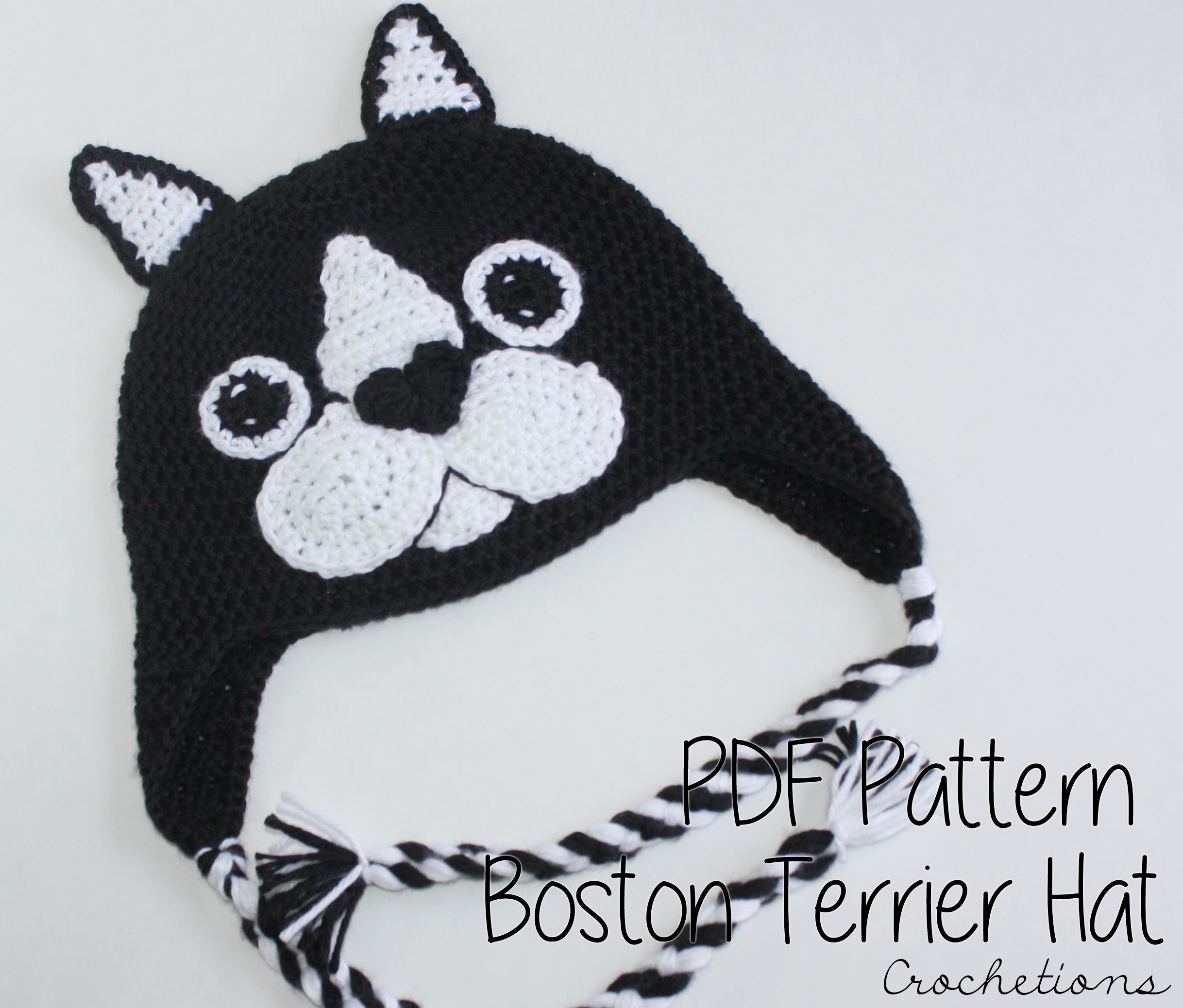 Love Boston Terriers? Make this hat with the Boston Terrier hat ...
