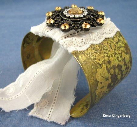 Boho Brooch Cuff Bracelet Makeover