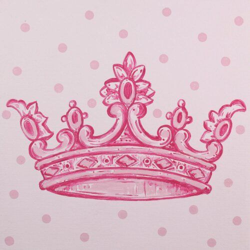 Pink Crown Imagination Square Room Décor Carousel Designs Little