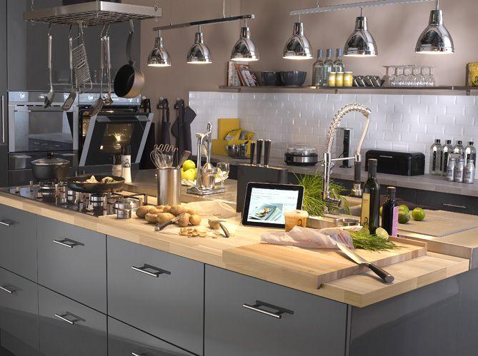 Plan De Travail Quel Matériau Choisir Plan De Travail Cuisine - Meuble en frene massif pour idees de deco de cuisine