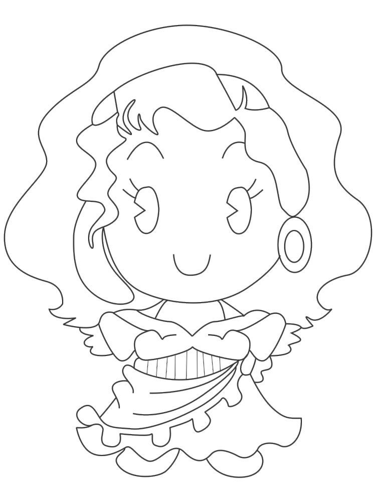 Disney Princess Cuties Coloring Pages : disney, princess, cuties, coloring, pages, Disney, Princess, Cuties, Coloring, Pages, Best., Character,, Princess…, Cartoon, Pages,