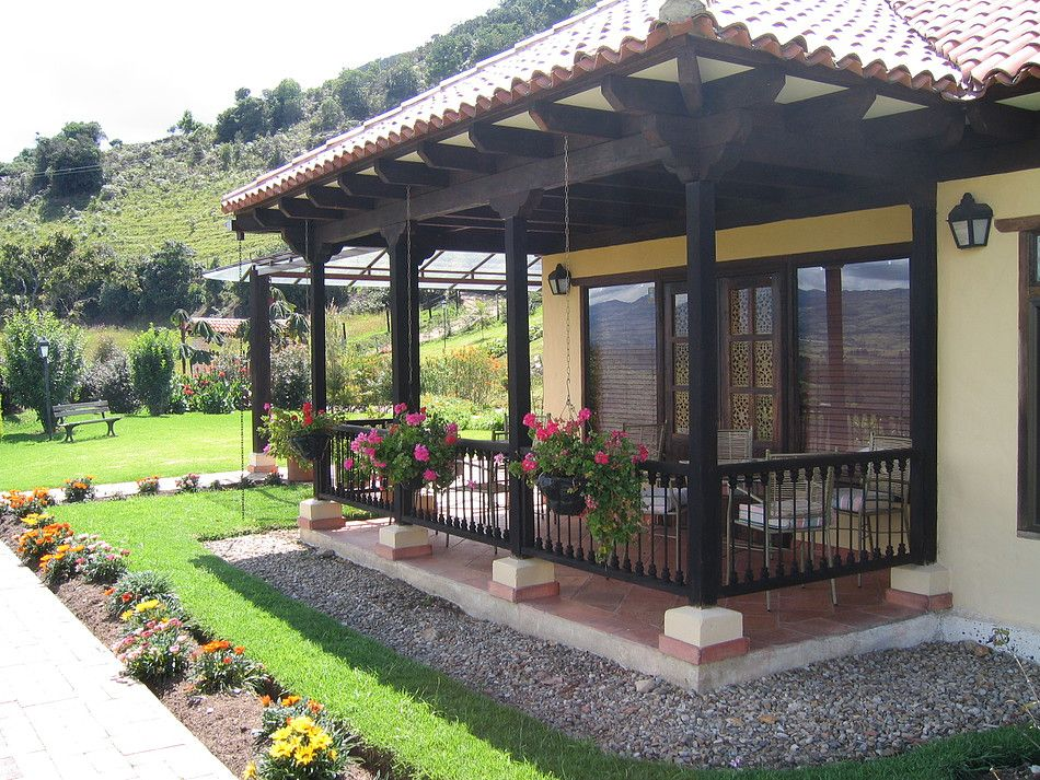 Casas campestres construccion personalizada casa de campo en 2019 casas campestres casas y - Casas americanas con porche ...