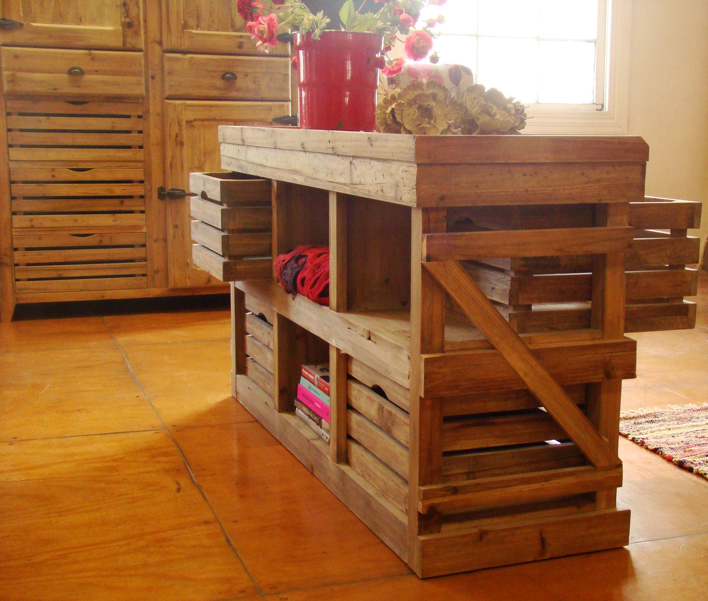 Mueble feria ideal para separar ambientes los cajones se for Muebles para ferias