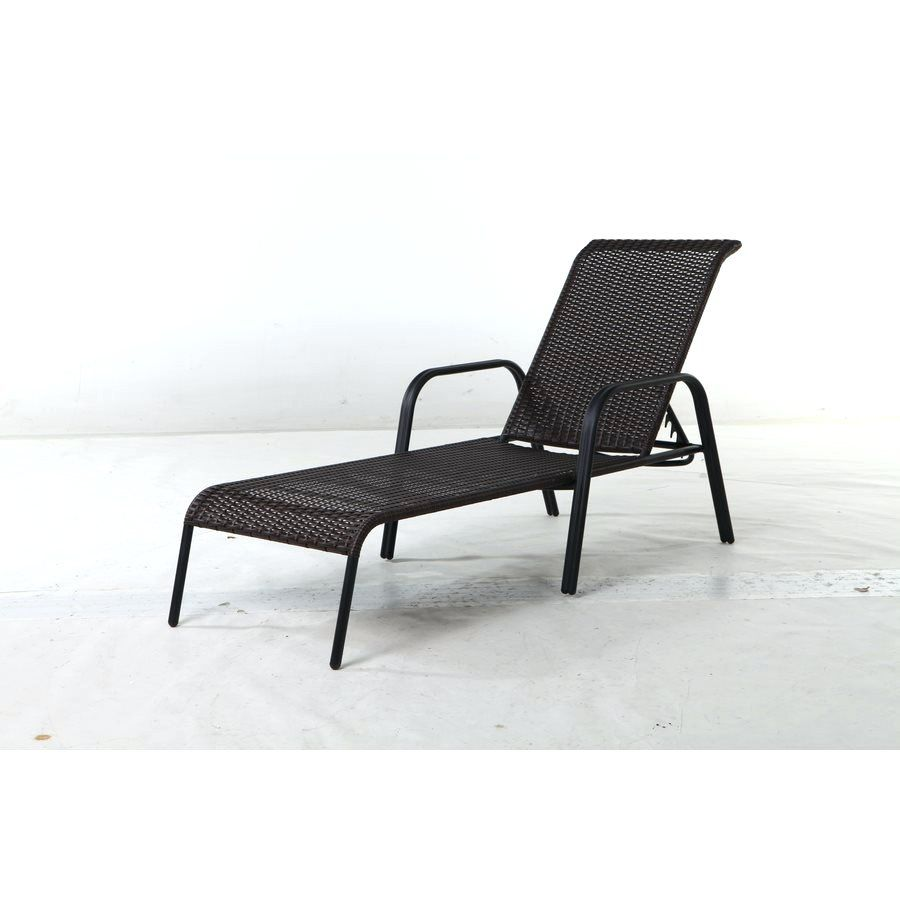 Wicker Chaise Lounge Chair Indoor