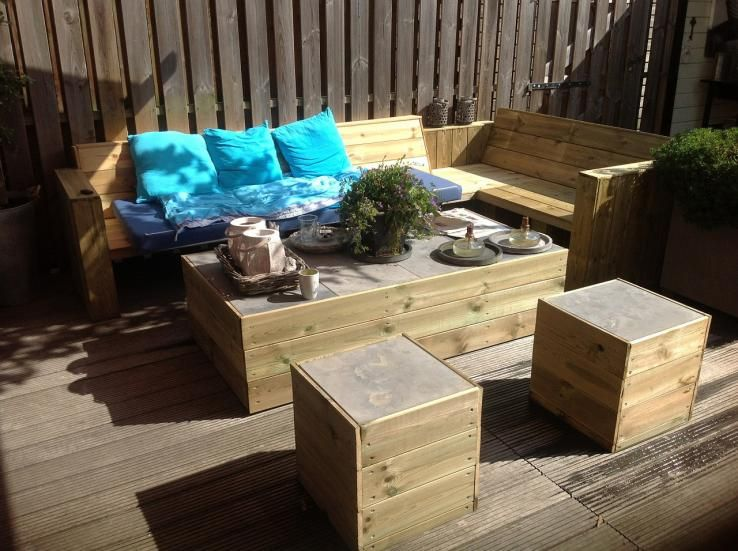 Beautiful Salon De Jardin En Bois Fait Maison Ideas - Awesome ...
