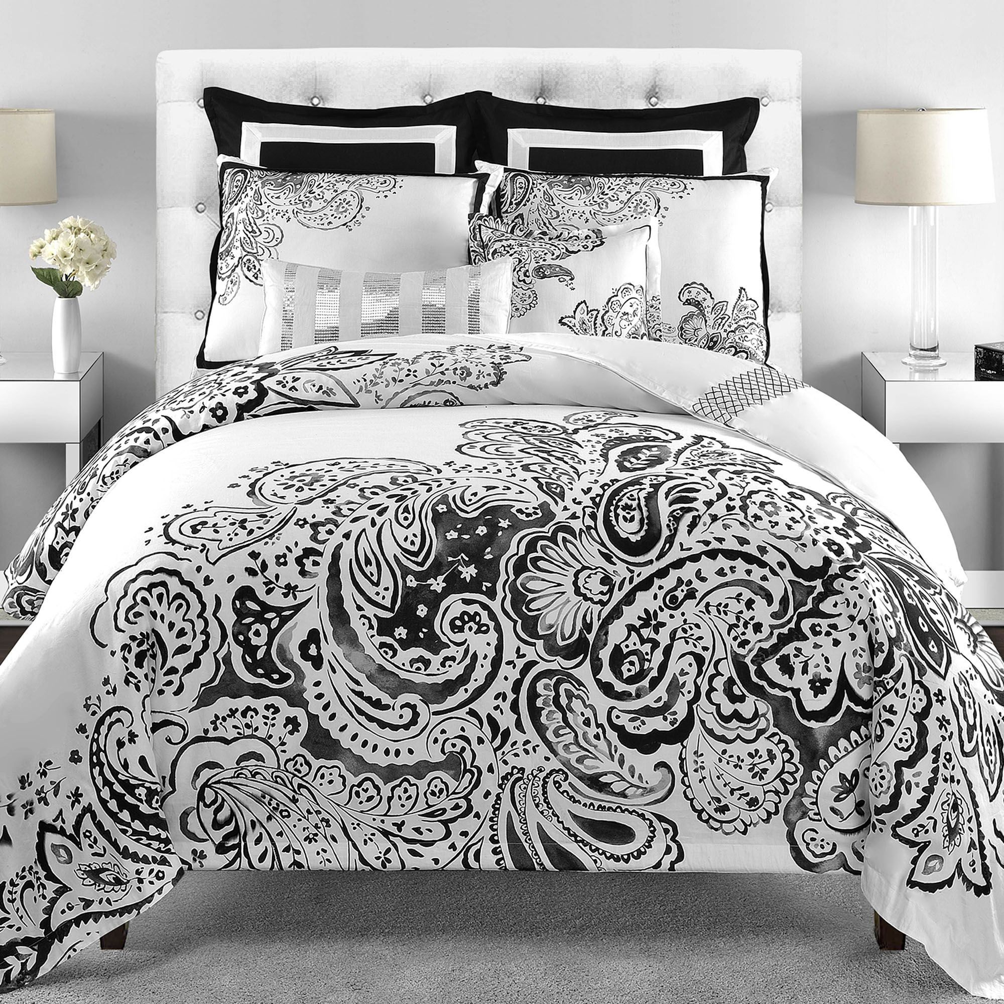 floral black in bedding inspiration popular and a bed comforter of queen files fascinating mainstays white comforters pict bag