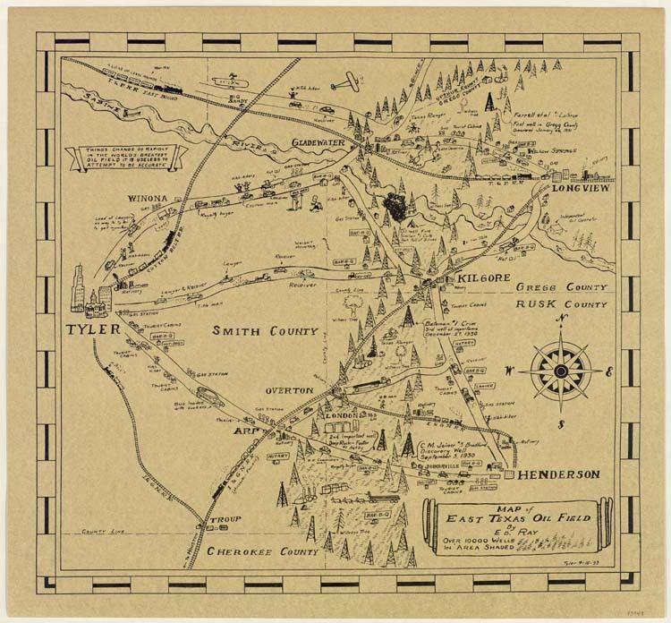 Map Of East Texas Oil Field Save Texas History Texas Oil