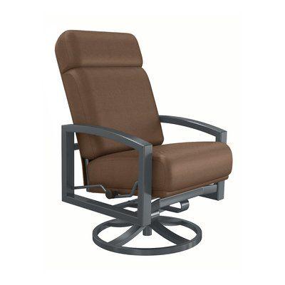 Tropitone Lakeside Patio Chair With Cushion Patio Chairs Chair Swivel Dining Chairs