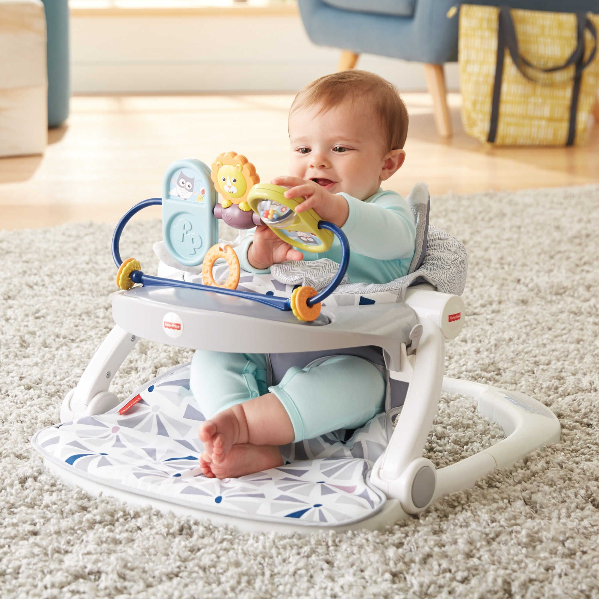 fisher price sit and play chair glider ottoman covers owl me up floor seat baby stuff