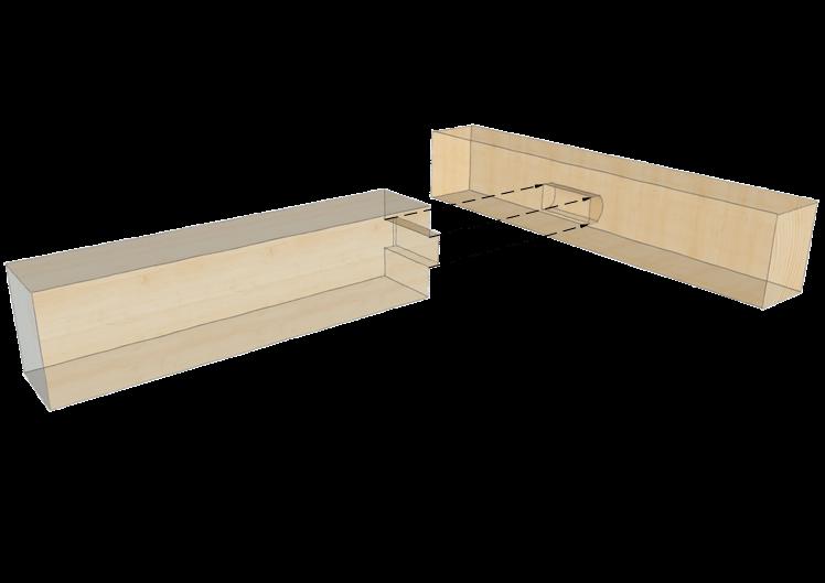 Zimmermannsm ige holzverbindung einfacher zapfen for Zimmermannsverbindungen herstellen