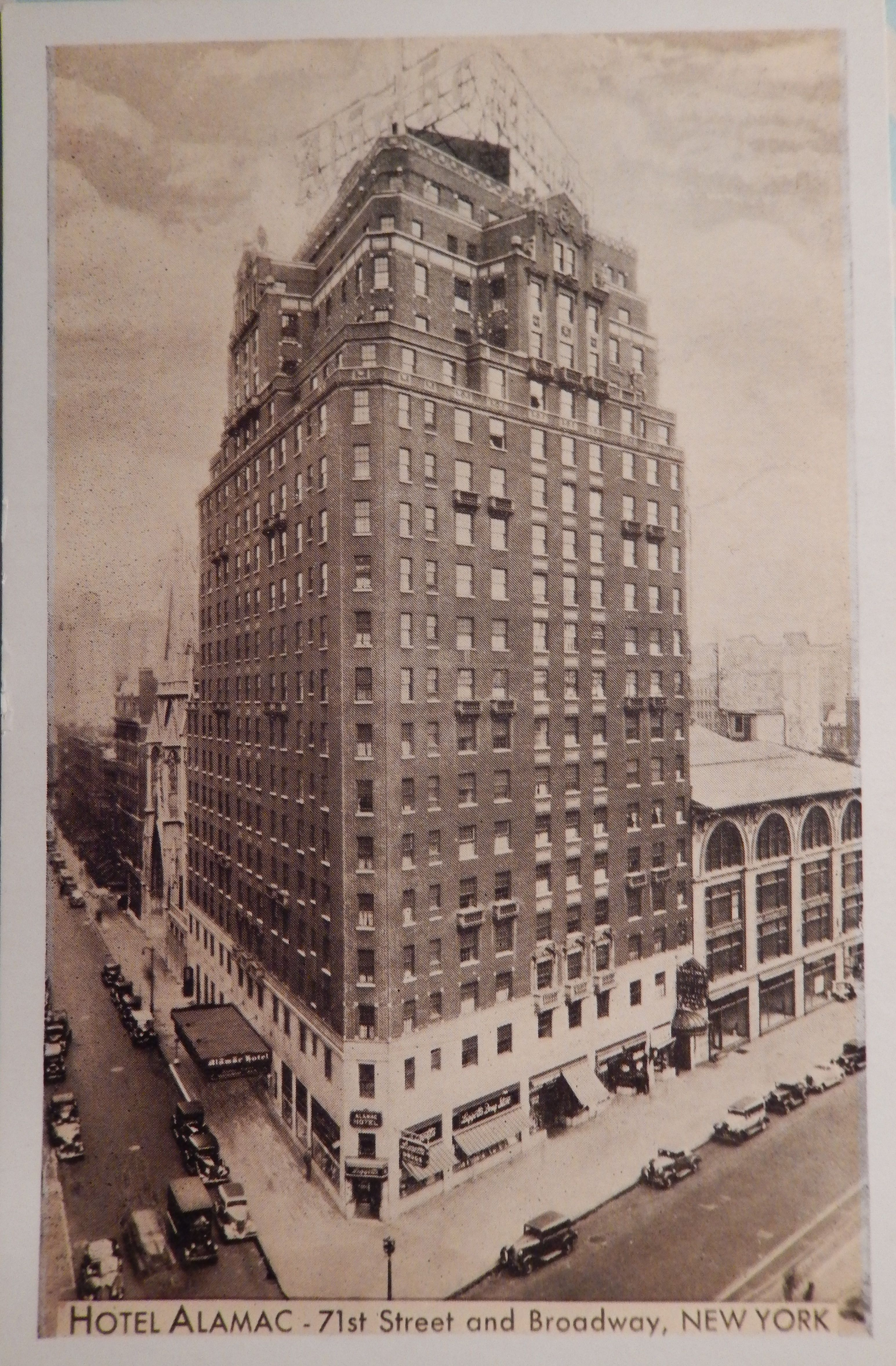 Hotel Alamac 71st St And Broadway New York City Leaning Tower Of Pisa City New York City