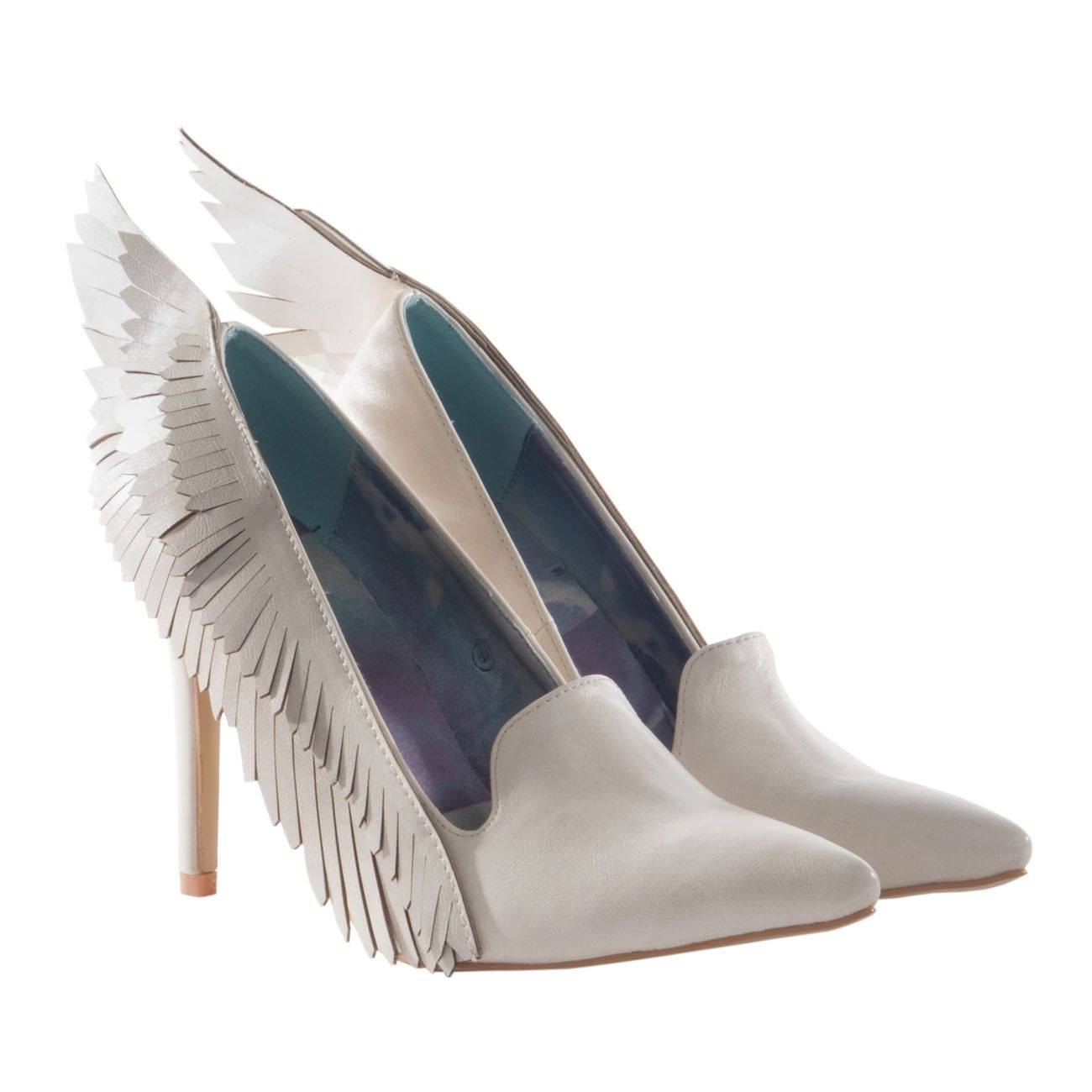 YRU 'Angyl, bone, angel winged pump , Shop for Indie Shoes
