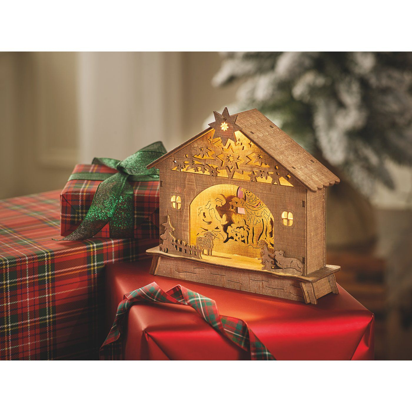 Buy Wooden Light Up Nativity Scene from our Room
