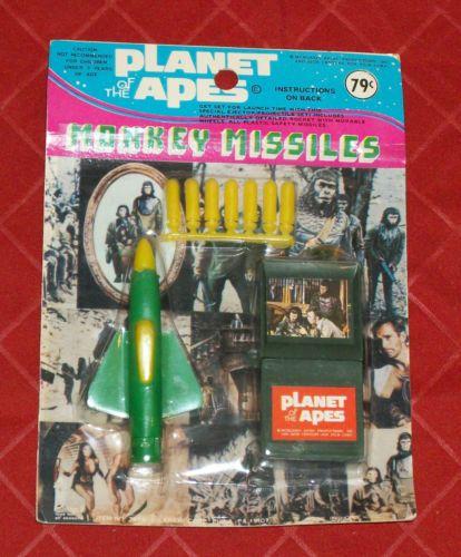 vintage Larami Planet of the Apes MONKEY MISSILES MOC toystoystoys4