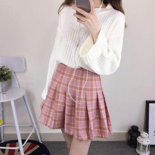 Cosmocorner Plaid Pleated Mini Skirt Yesstyle Tennis Skirt Outfit Plaid Pleated Mini Skirt Fashion