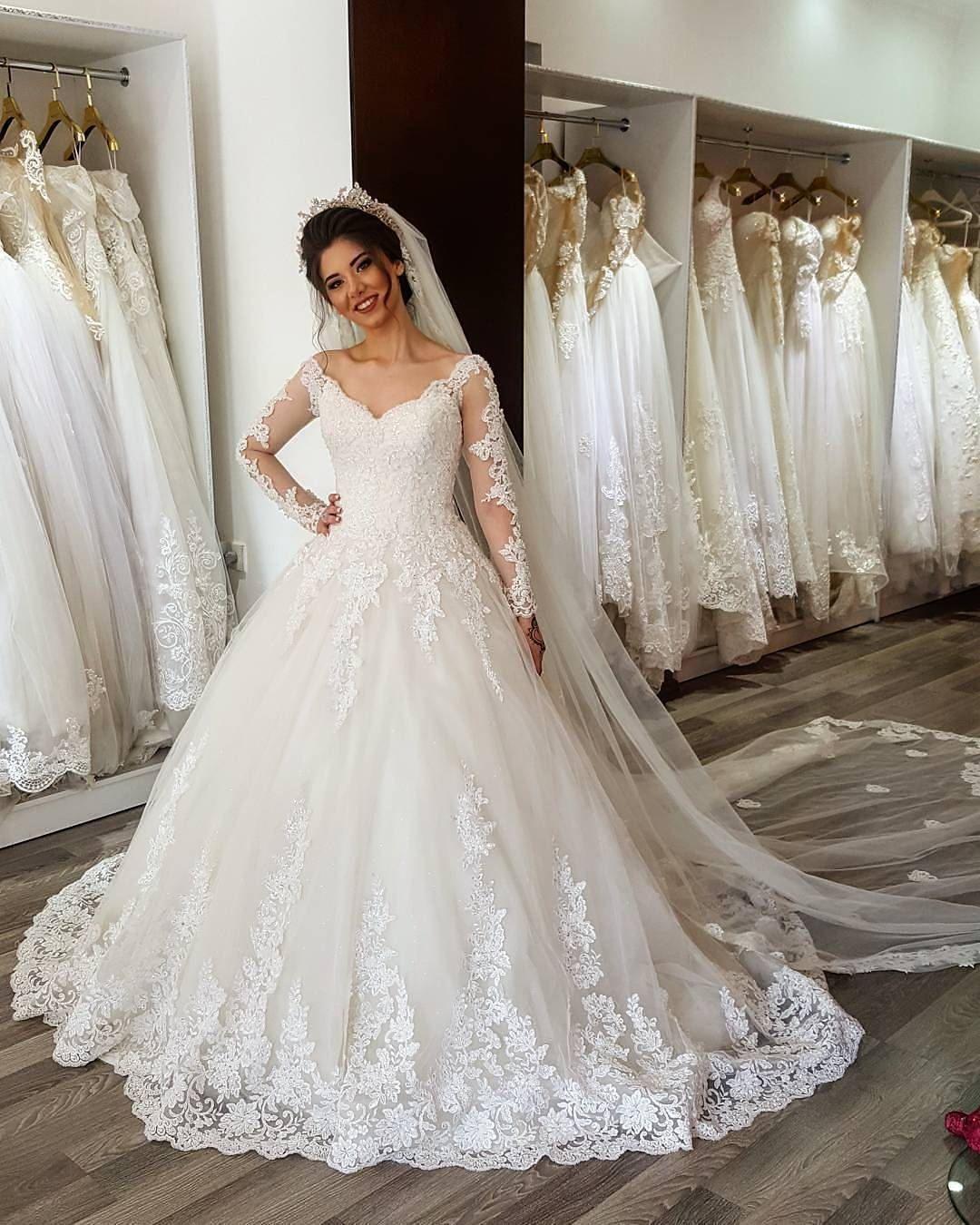 Charming Wedding DressBall Gown Wedding DressesFull Sleeve Wedding