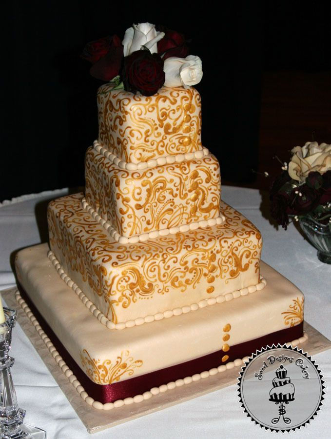 Inspiration, Cakes, brown, gold, cake, Board, Sweet designs cakery