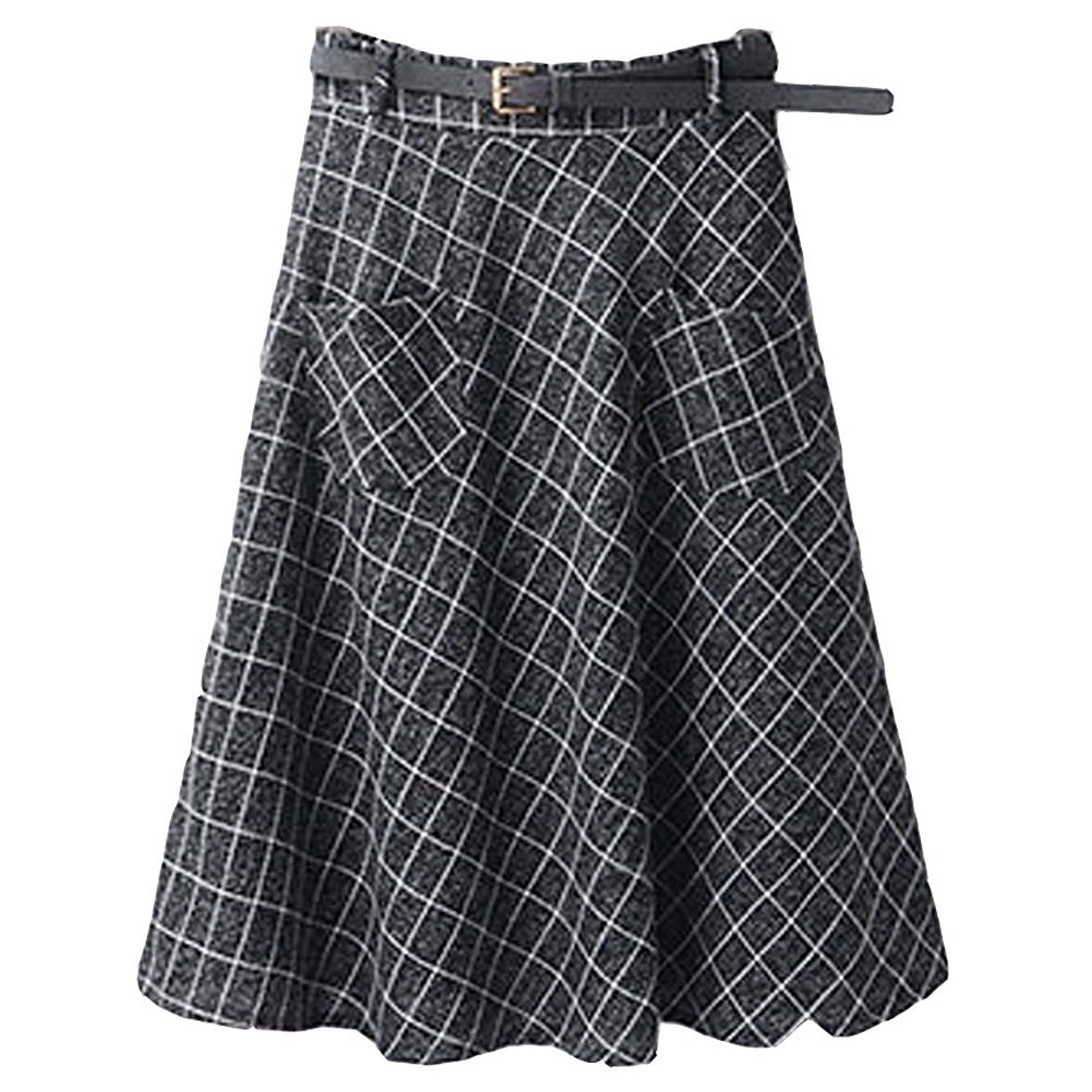 293b0481533a Women Fall Classic Plaid Checks Cotton Blend Mini Short Skirt Above Knee  Skirts ** This is an Amazon Affiliate link. See this great product.