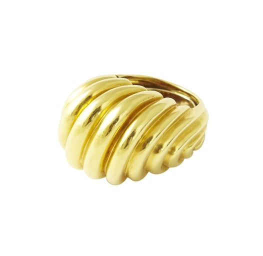 David Webb, Gold Dome Cocktail Ring, 1960s on Paddle8 (=)