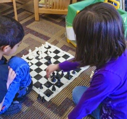 Sometimes a quiet game of chess is what is needed to get the sillies out.
