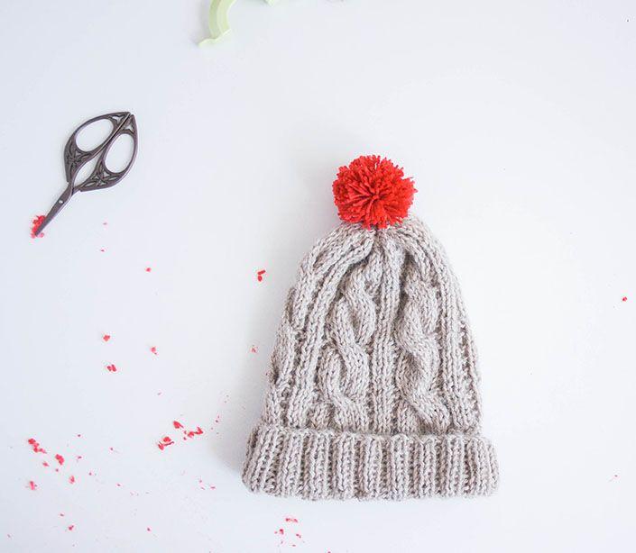 Patrón gratuito de gorro de punto para niño | Knitting for babies ...