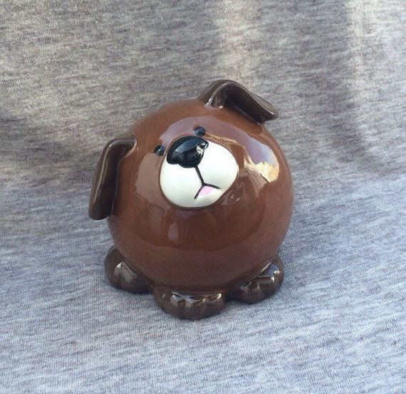 Puppy piggy bank ceramic dog piggybank personalized baby gift puppy piggy bank ceramic dog piggybank personalized baby gift ceramic dog bank custom hand painted new baby present negle Images