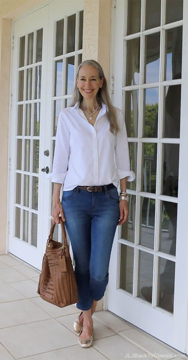 classic-fashion-over-40-oxford-cloth-shirt-skinny-jeans-janis-lyn-johnson