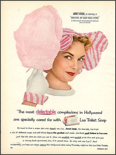 1953 Lux Soap ad with Janet Leigh