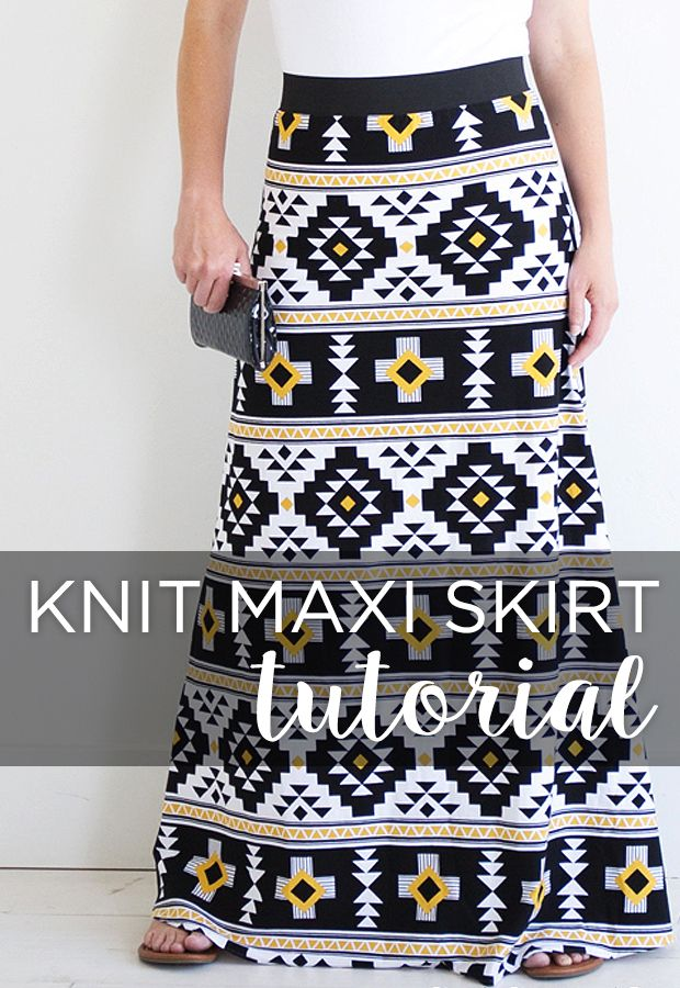 Simple Knit Skirt Tutorial Clothing And Shoes Pinterest Knit