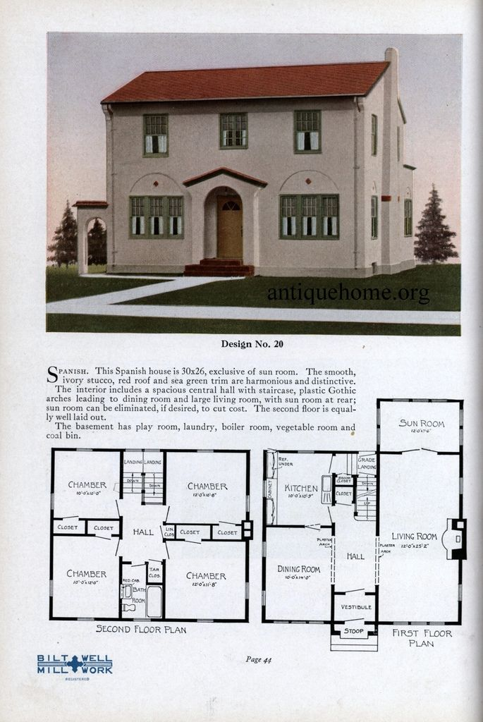 Practical Homes  1926   Pinterest   Architects  House and House     By Bilt Well  Architect  Jens Pederson Design No  20