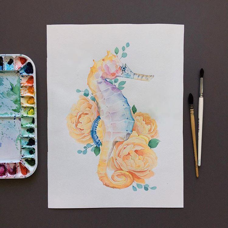 Process Seahorse Sea Life Acrylic
