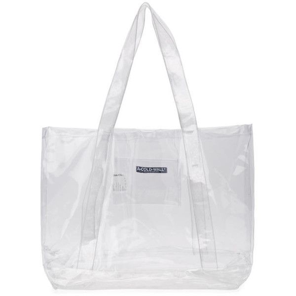 A Cold Wall Transparent Plastic Tote 265 Liked On Polyvore Featuring Bags Handbags Bag Purse Logo See