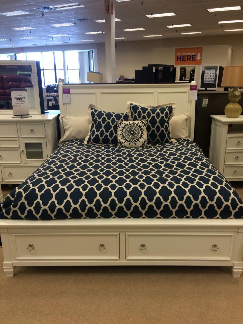Ashley Furniture Prentice Sleigh Storage Bed In White White Bedroom Furniture White Bedroom Furniture