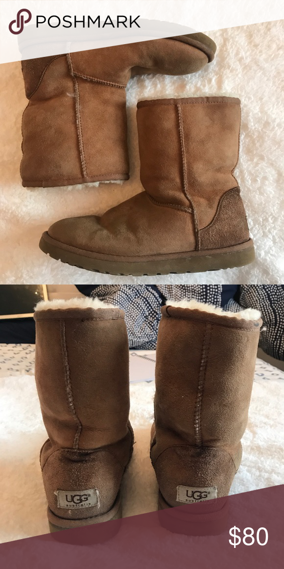 e1c0868589b UGG Classic Short II Boot Moderately worn, chestnut colored, classic ...