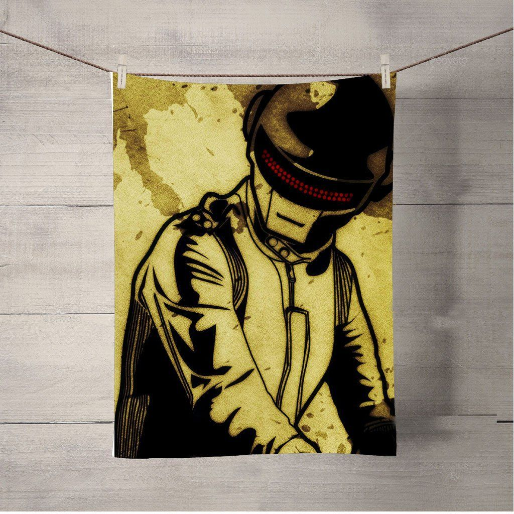 Daft Punk Grunge Surface Bath Towel Beach Towels | Pinterest | Daft ...