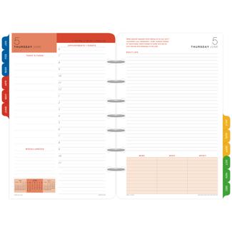 DayTimer PagePerDay Wellness Planner Refill Desk Size Item