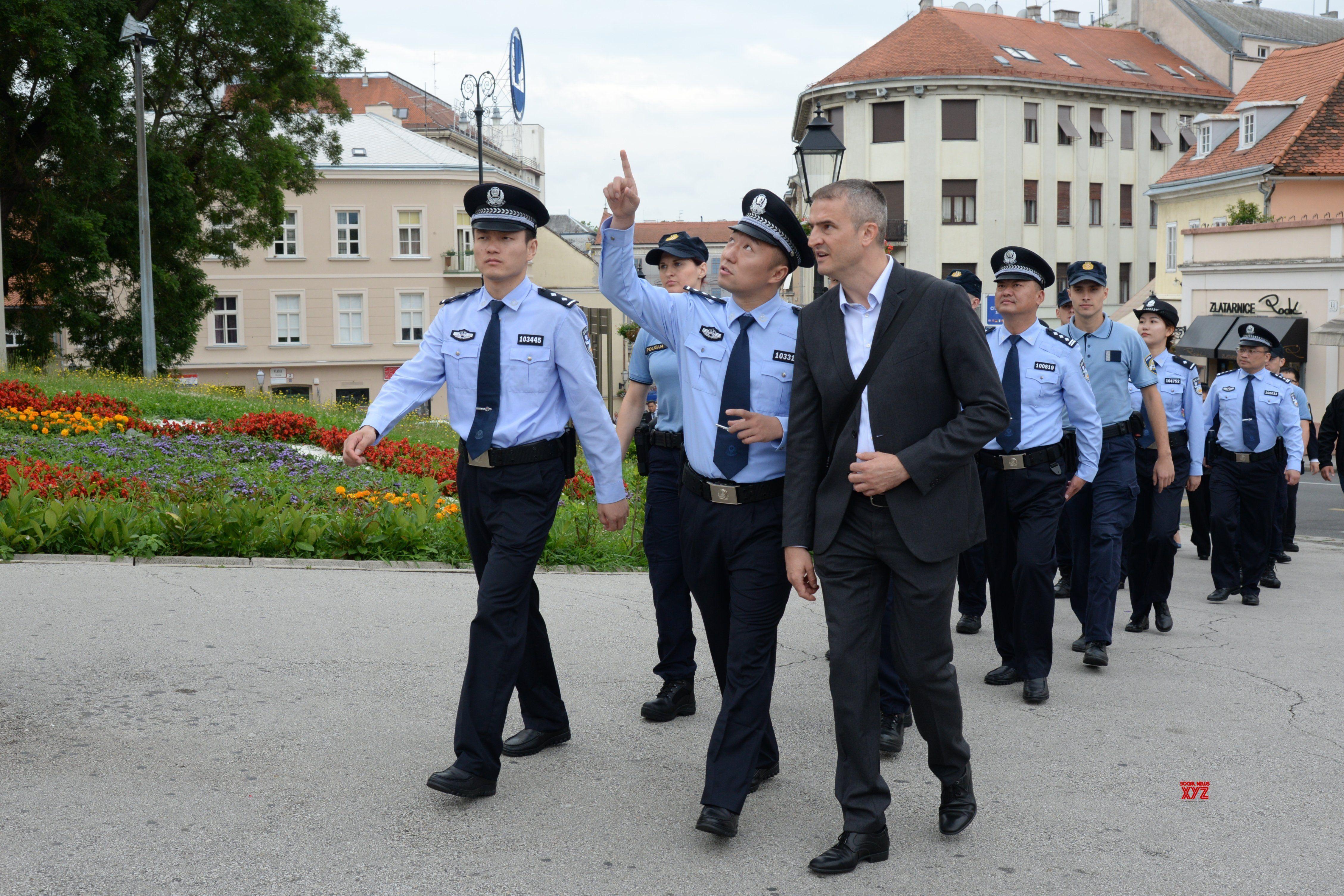 Croatia Zagreb China Police Joint Patrol Gallery Social News Xyz Zagreb Croatia Police