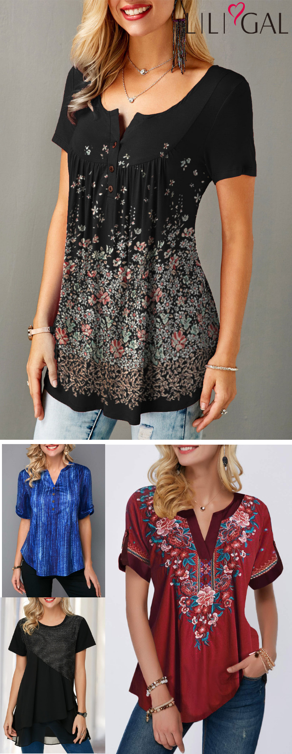 Spring Summer Cute Tops for women