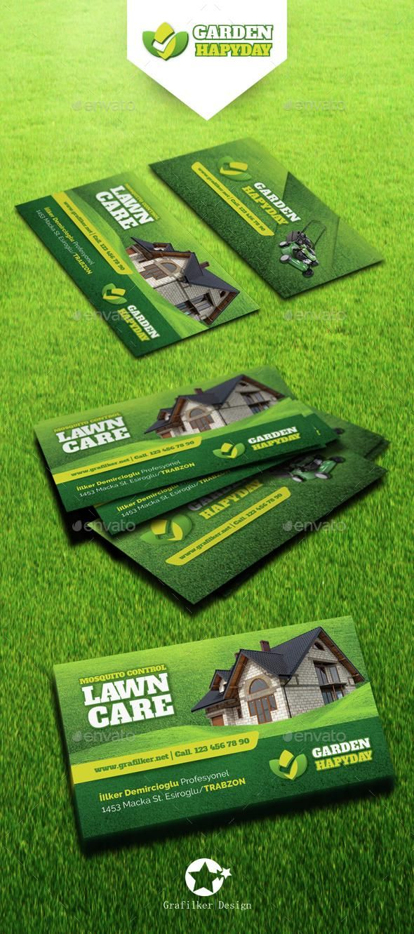 Garden Landscape Business Card Templates (With images ...